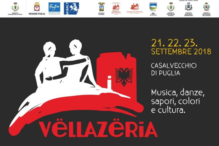 """Casalvecchio di Puglia, dal 21 al 23 settembre """"Vëllazëria"""": la festa della fratellanza italo-albanese"""
